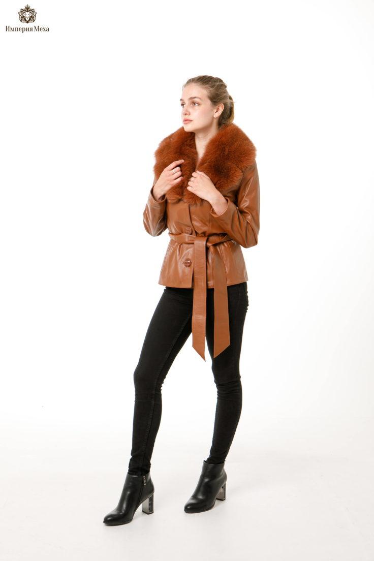 Кожаная куртка Fashion star