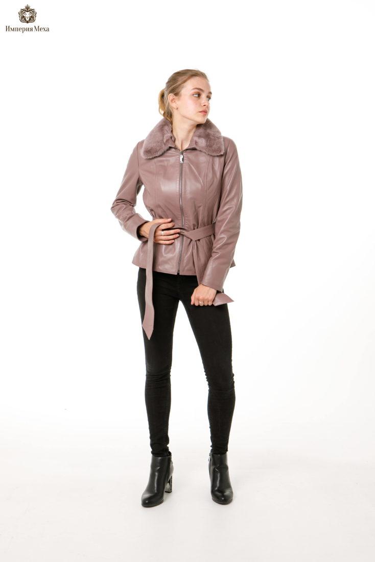 Куртка кожаная Fashion star