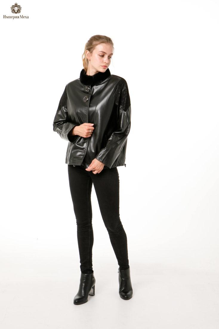 Кожаная куртка Oversize