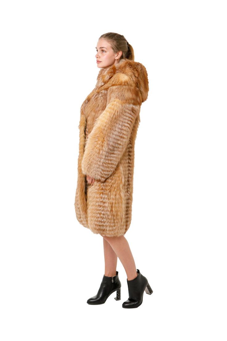 Шуба из меха лисы 365-35