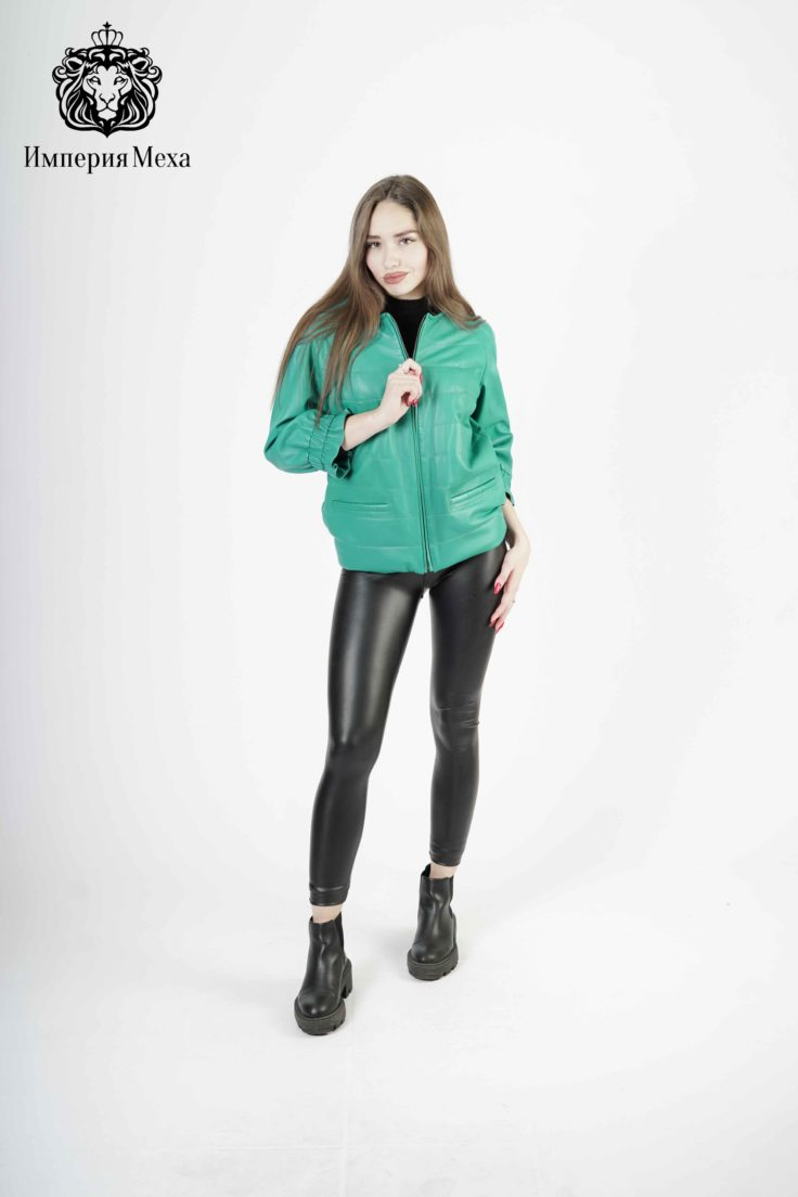 Кожаная куртка женская 4269