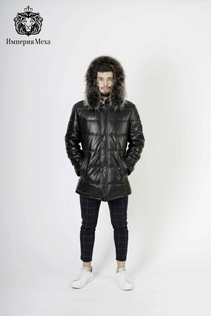 Пуховик мужской кожаный Viva Dolce Vita 92553