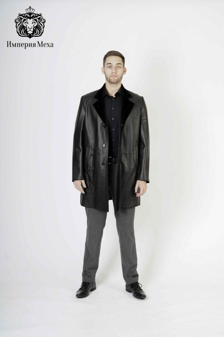 Кожаная куртка мужская 4109