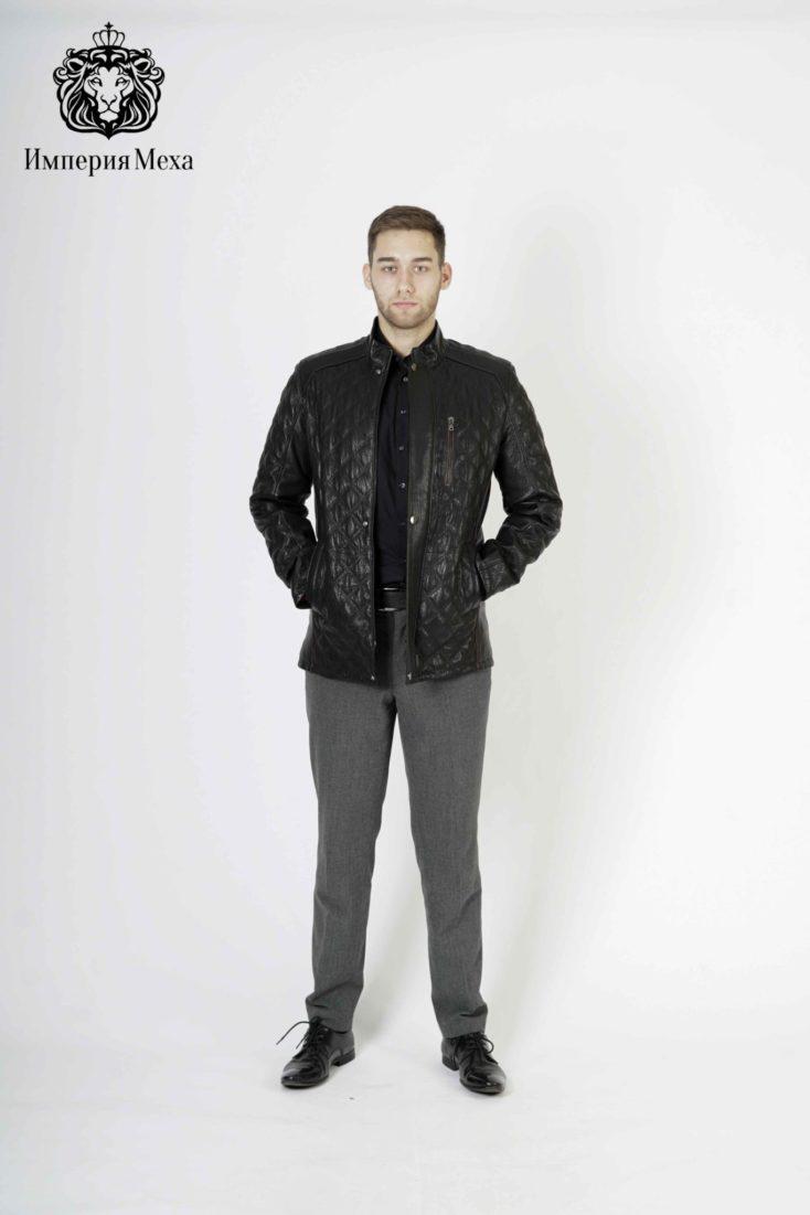 Кожаная куртка мужская Gio Melli F302