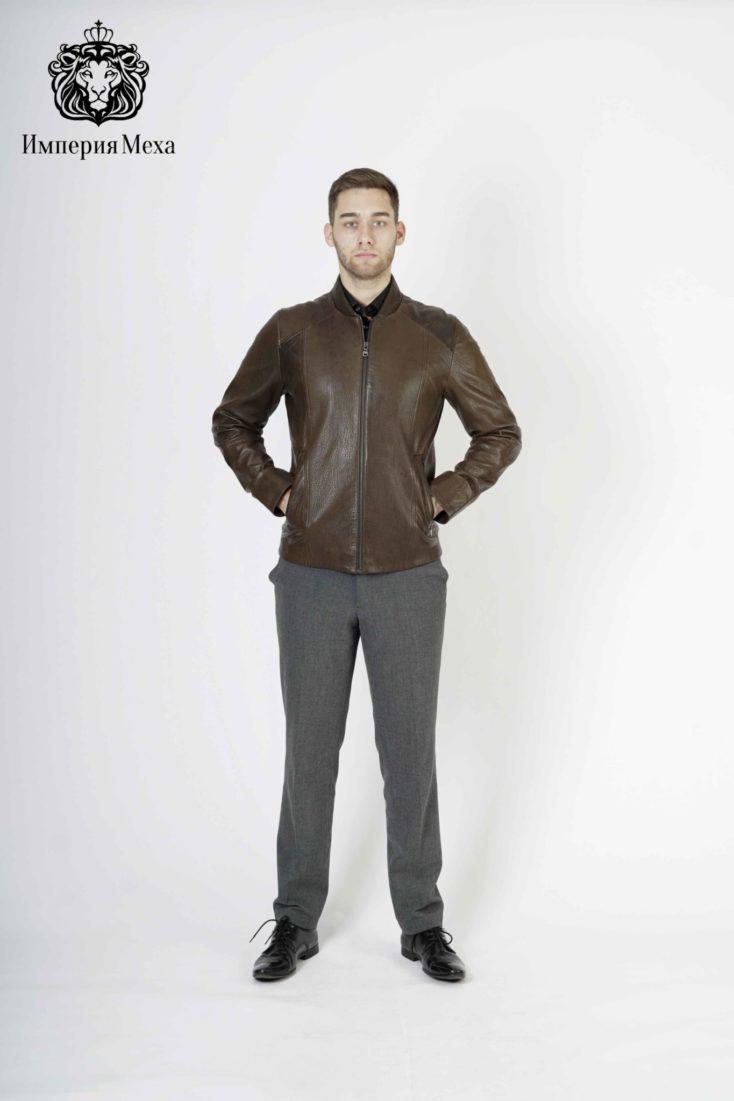 Кожаная куртка мужская Steel 2891
