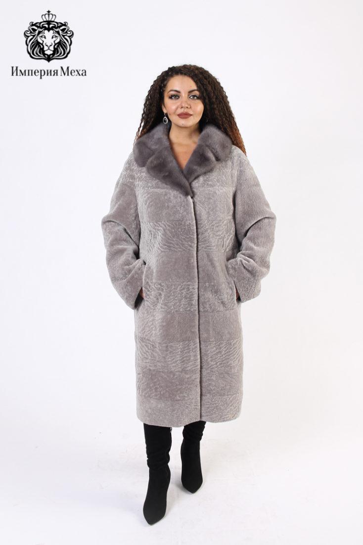 Шуба из овчины Астраган Emilio Furs 3CAC-4548