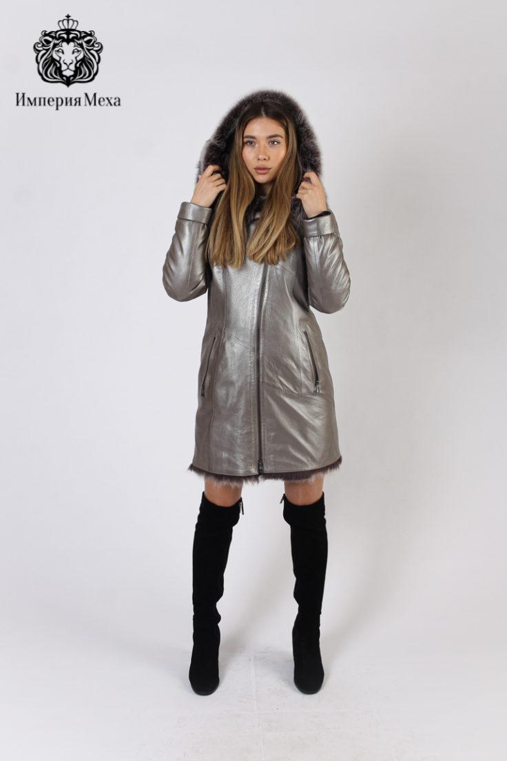 Пальто женское кожаное Alliance Trans Z-1876-80-1