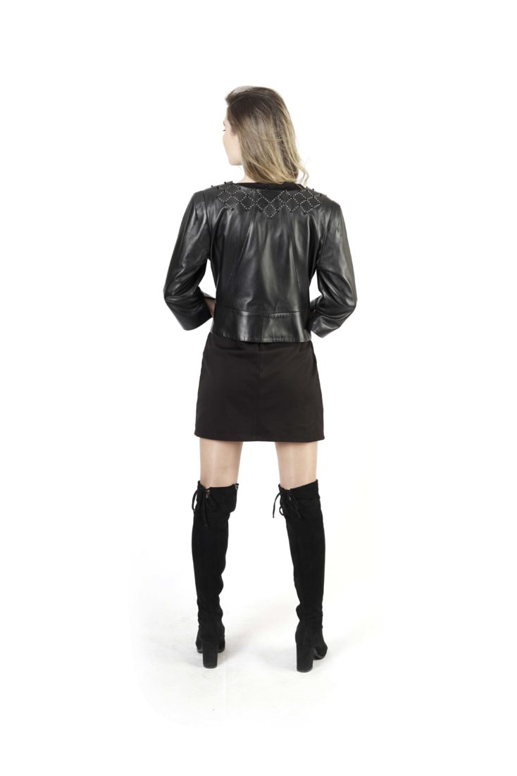 Кожаная куртка женская SIMGE 3624