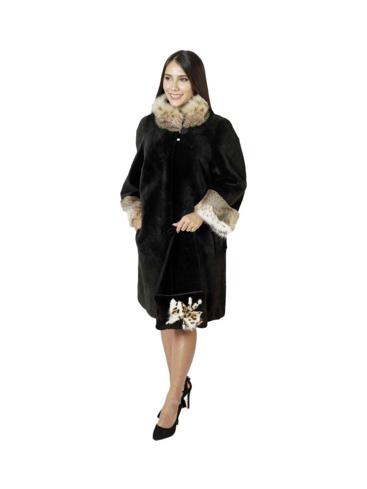 Шуба из меха бобра Меховая Мода 498
