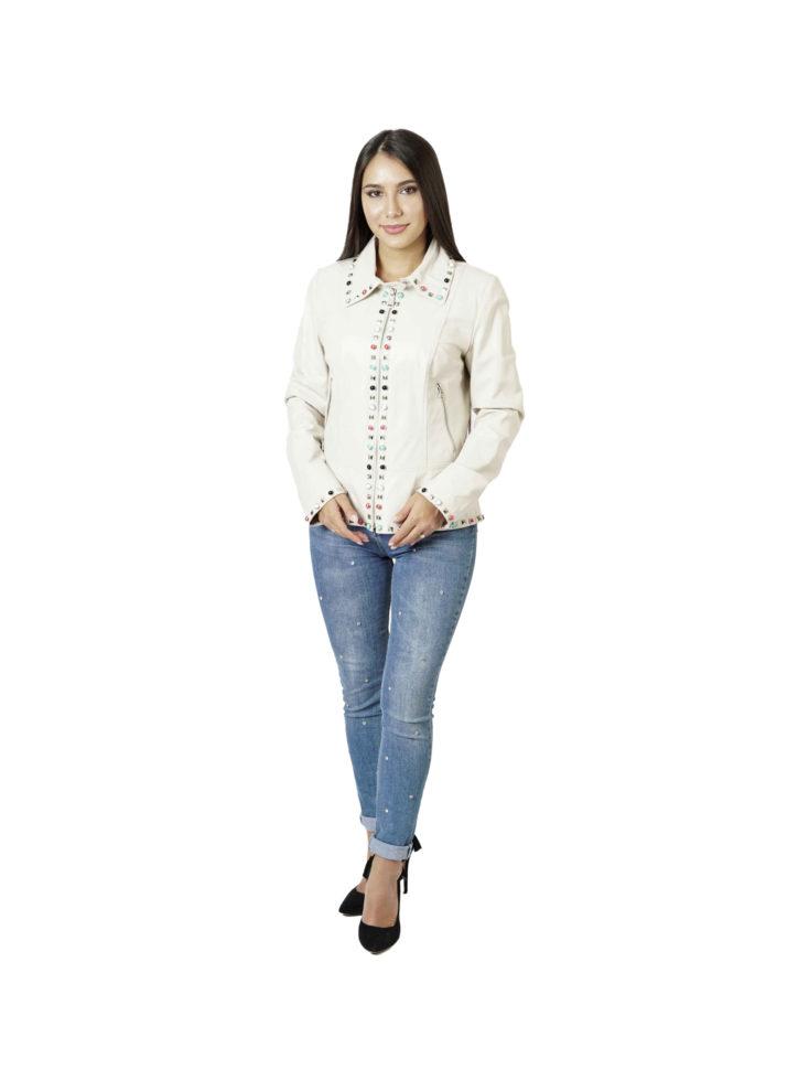 Кожаная куртка женская Carnelli BZ. 017.048