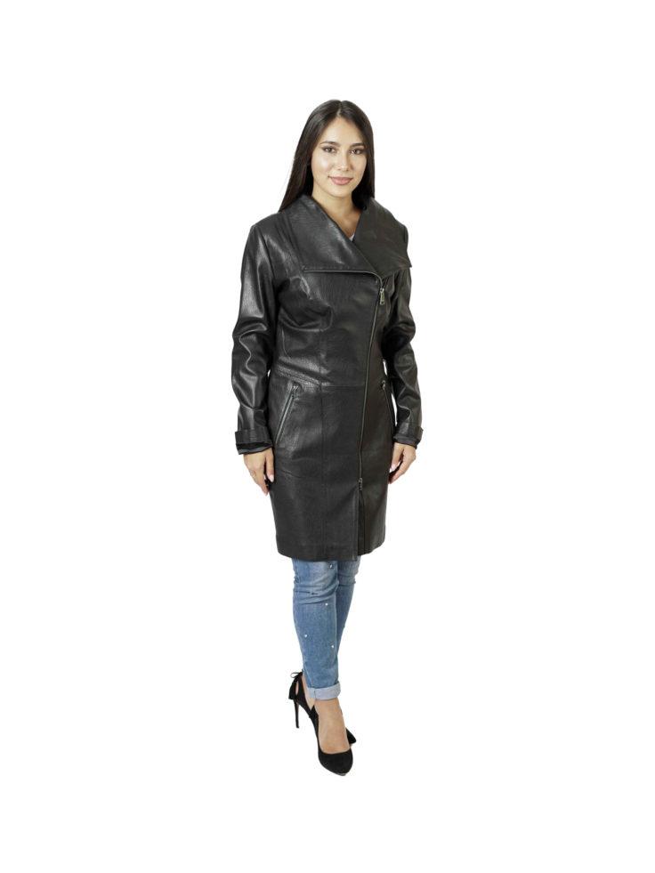 Кожаная куртка женская Carnelli 015245