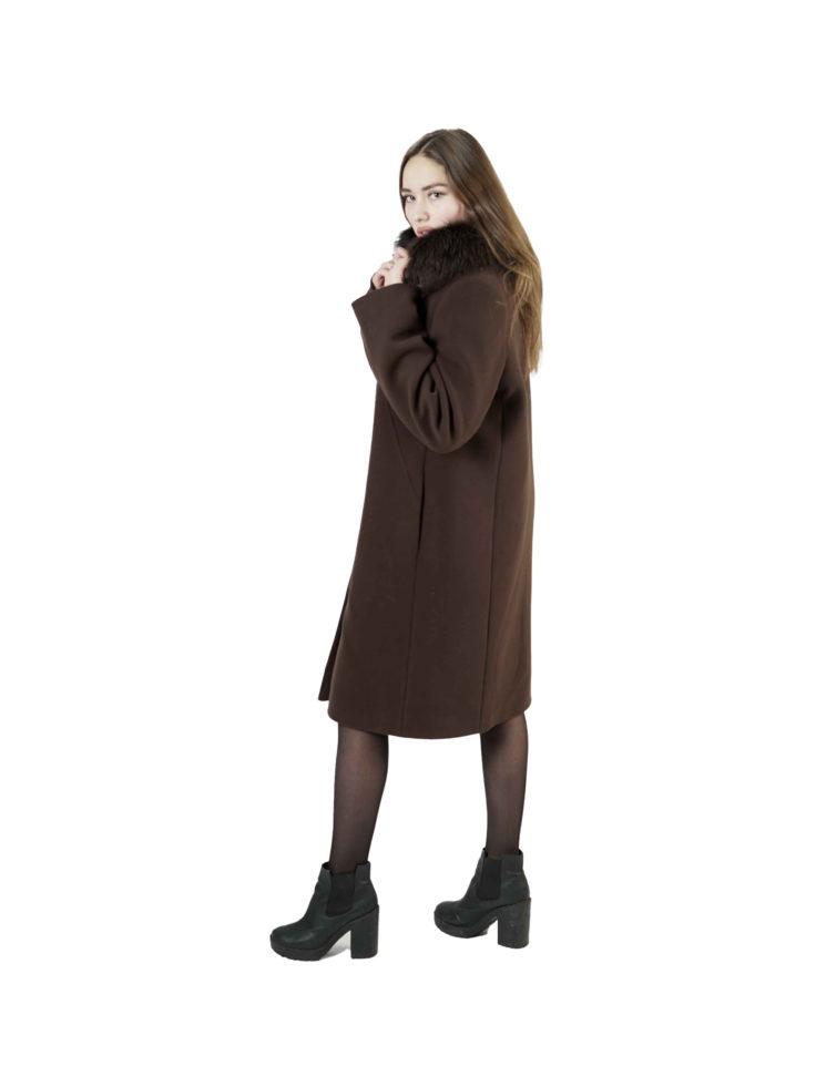 Пальто женское шерстяное Славянка Т1-794Ф