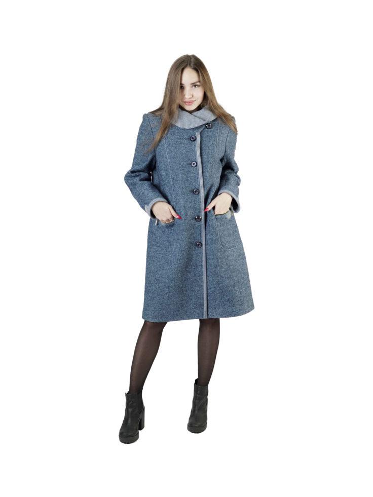 Пальто женское шерстяное Славянка В1-771