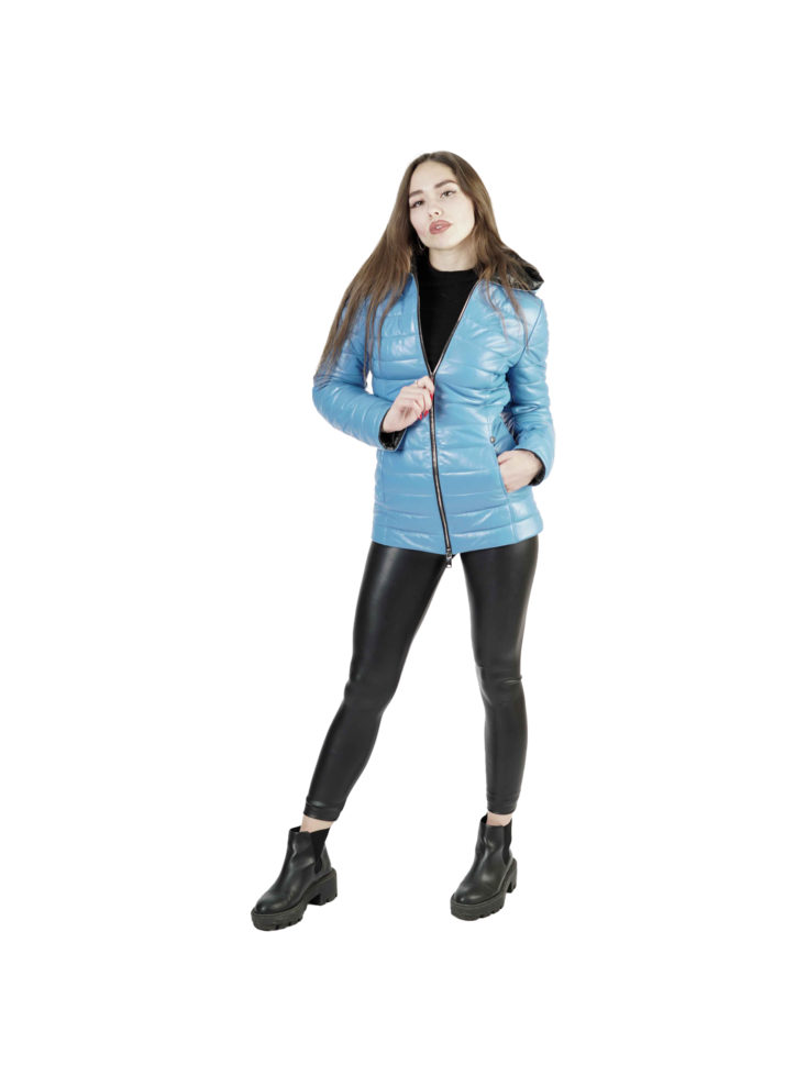 Кожаная куртка женская 1439
