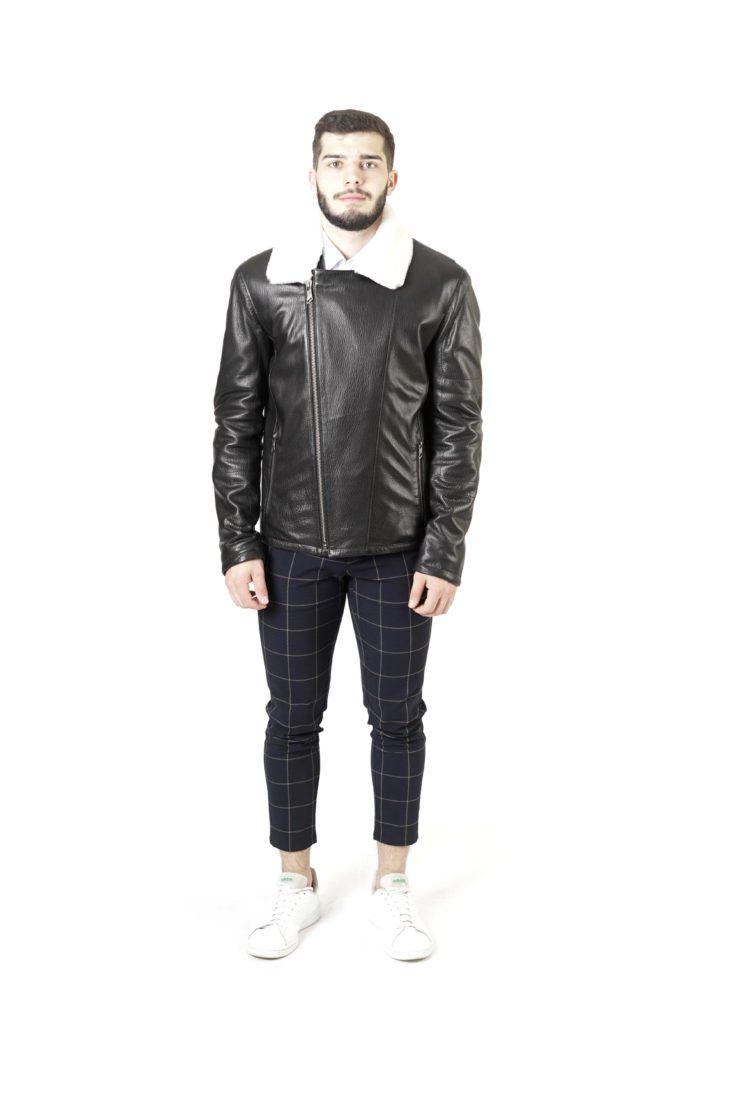 Кожаная куртка мужская 8312
