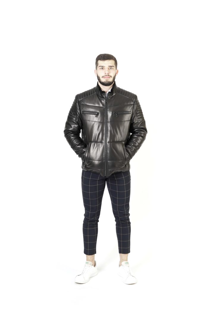 Пуховик мужской кожаный Viva Dolce Vita 91996