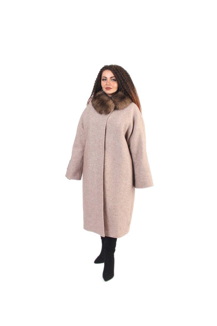 Пальто женское шерстяное Славянка 68-7040-107
