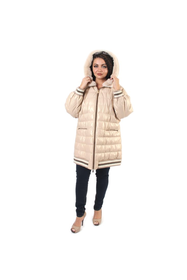 Пальто кожаное женское Alliance Trans Z-1870