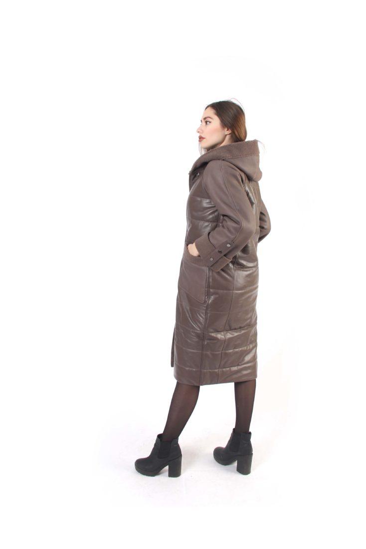 Пальто женское кожаное Tony Grazza 4815