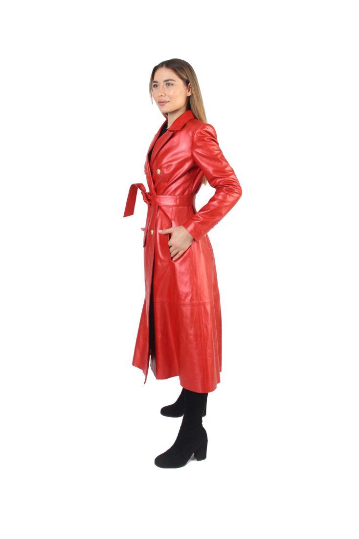 Пальто женское кожаное Alliance Trans 1686