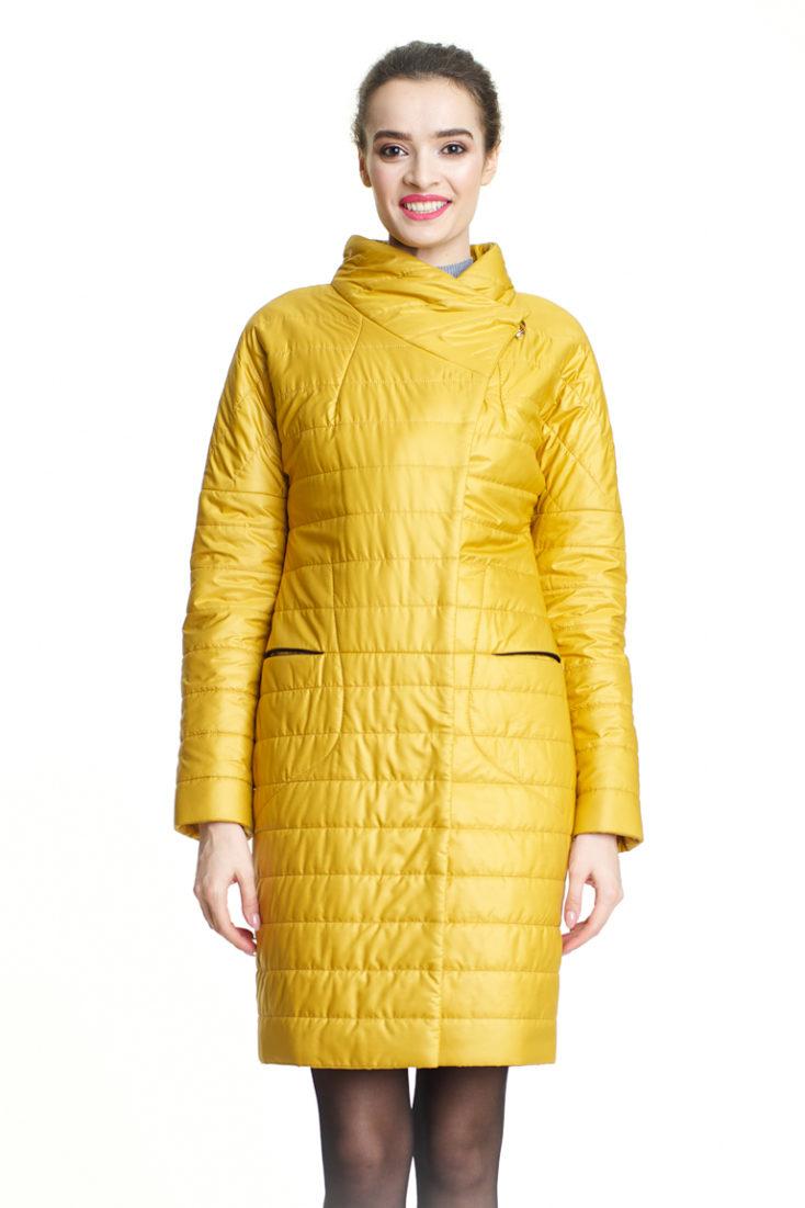 Пуховик женскии желтый 189