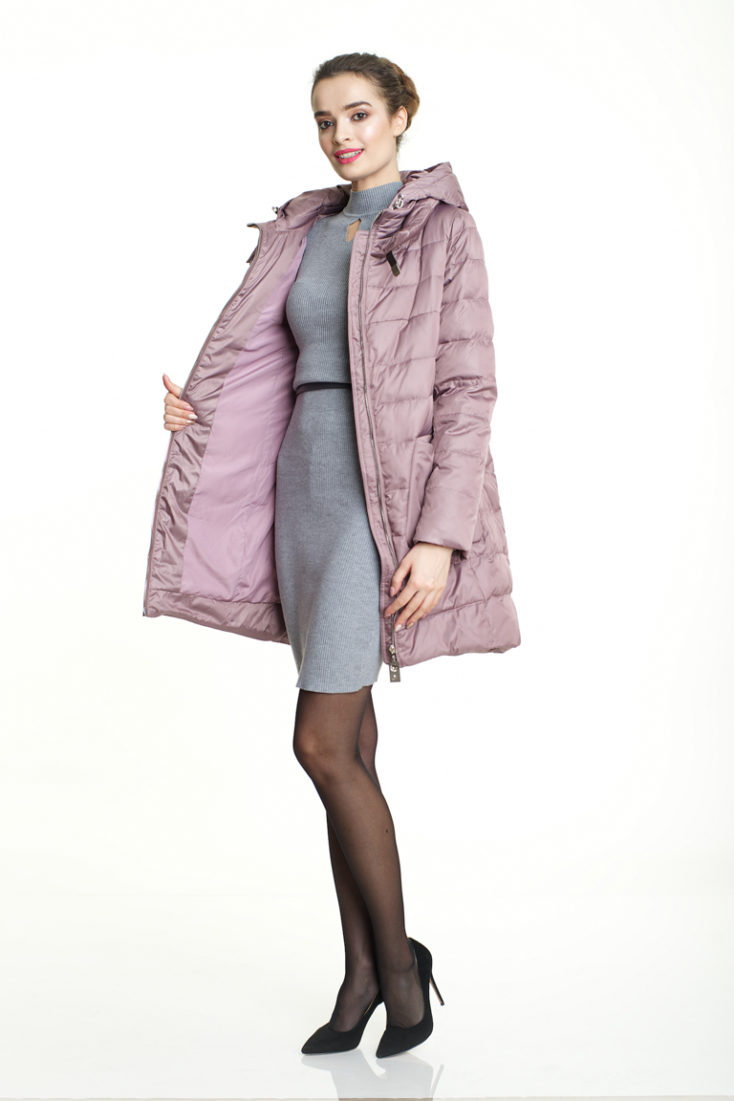 Пуховик пыльно-розовый 127