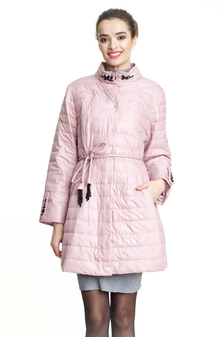 Пуховик розовый 131