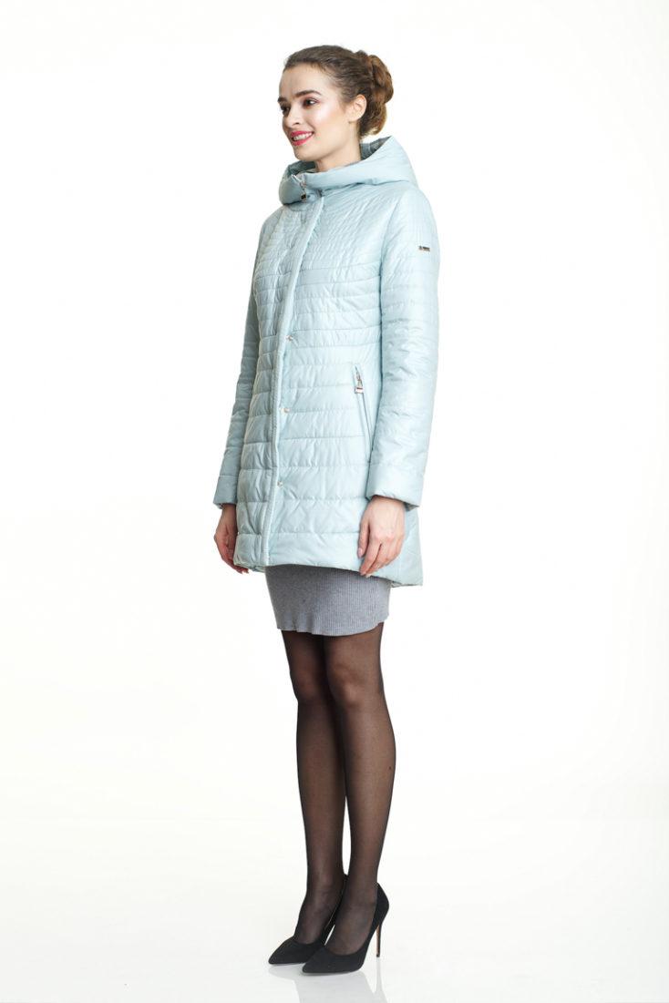 Пуховик женский Нежно-голубой 160