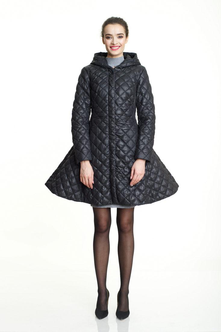 Пуховик-платье  женский 162