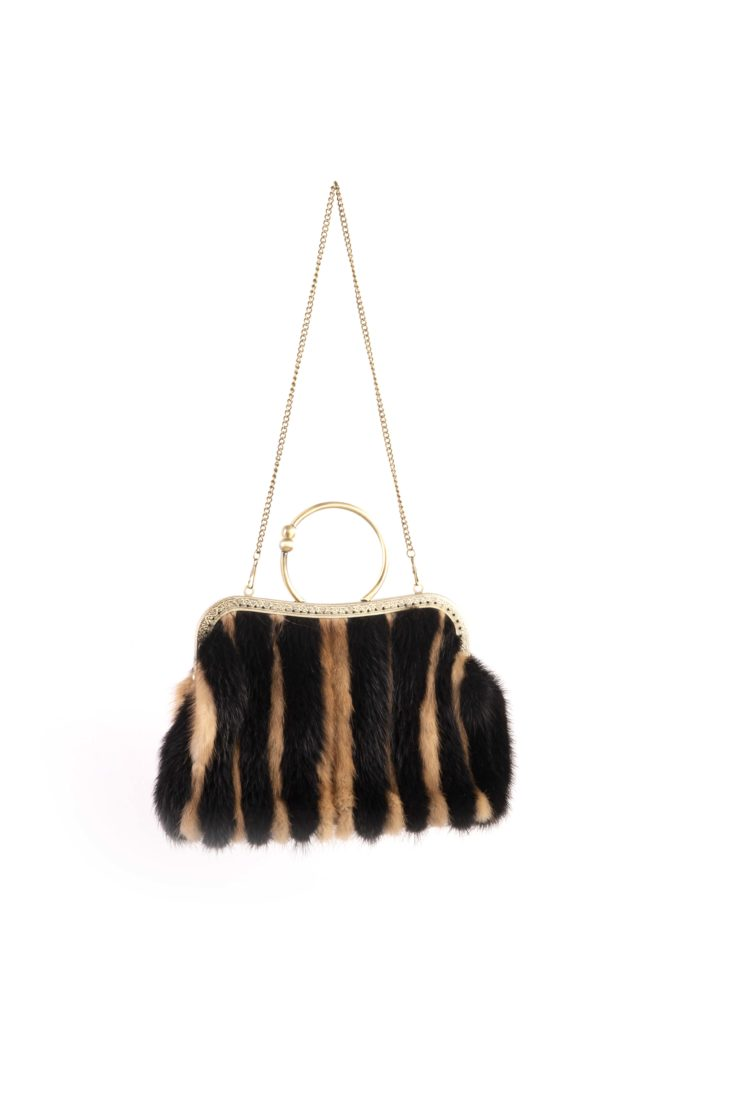 Меховая сумка женская