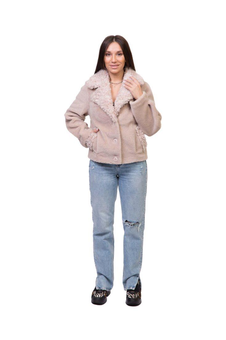 Куртка женская из экомеха Adelina Fur Collection Саманта