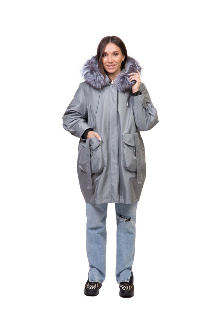 Куртка женская с подкладом из меха кролика Империя Меха Р019