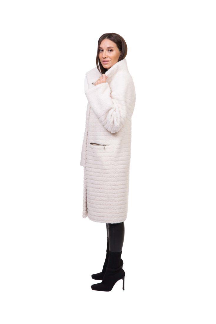 Пальто из эко-меха GRV Premium Furs M-2155